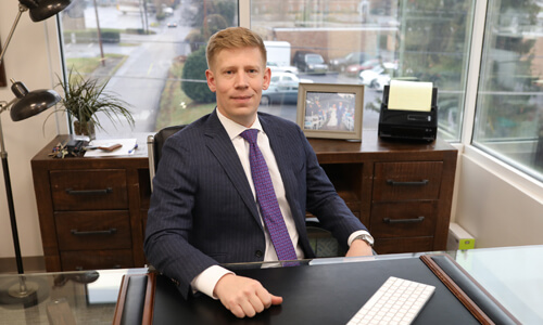 Attorney John Barnes in his office